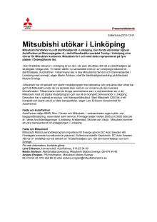 Mitsubishi utökar i Linköping