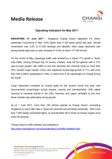 Operating Indicators for May 2017