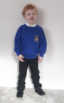 Miracle baby born with half a heart celebrates his first day at school