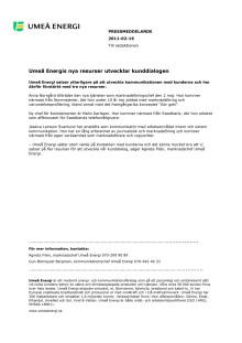 Umeå Energis nya resurser utvecklar kunddialogen
