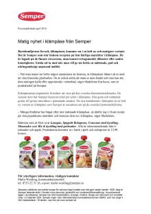 Matig nyhet i klämpåse från Semper