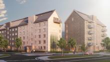 Riksbyggen planerar för 143 nya bostäder vid Selma Lagerlöfs Torg i Backa