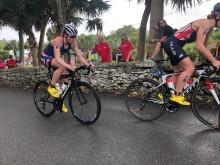Lotte Miller var med og preget VM-runden i Bermuda. Lå lenge med tettrio