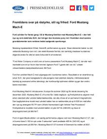 Fremtidens svar på råstyrke og frihed: Ford Mustang Mach-E