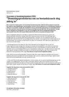 """Årsresumé av bostadsmarknadsåret 2018: """"Domedagsprofetiorna om en bostadskrasch slog aldrig in"""""""