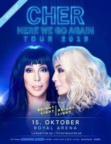 Cher annoncerer special guest til sin udsolgte koncert i Royal Arena 15. oktober.