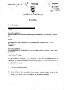 Beschluss LG Ravensburg