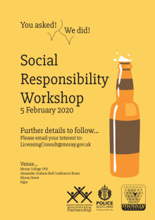 Social responsibility workshop for licensed premises staff
