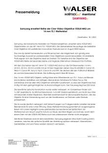 Samyang erweitert Reihe der Cine-Video-Objektive VDSLR MK2 um 14 mm T3,1 Weitwinkel