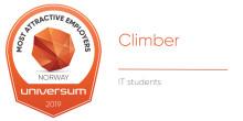 SpareBank 1 er en av årets klatrere blant IT-studentene