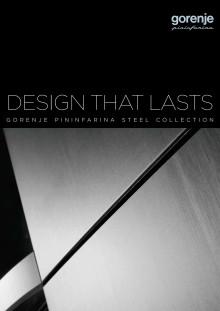 Gorenje Pininfarina Steel brochure - engelsk version