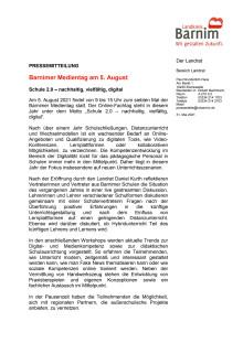 Barnimer Medientag am 5. August