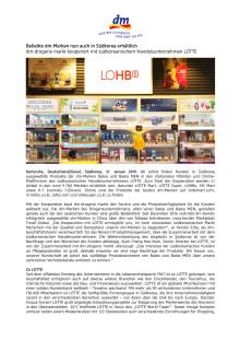 Beliebte dm-Marken nun auch in Südkorea erhältlich