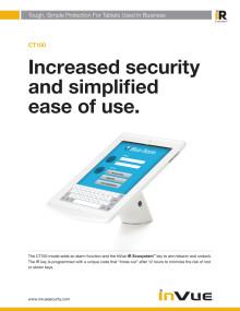 Varularm från Gate Security - InVue CT100, Skydda din surfplatta