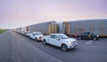 Se Fords amerikanske elbils-pickup trække over 450 ton