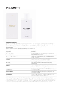 Mr Smith produktinfo Volumising Conditioner