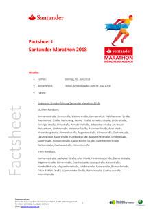 Factsheet 1 Santander Marathon 2018