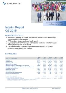 Zalaris Interim Report Q3 2015