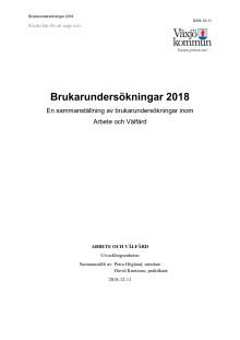 Rapport Brukarundersökningar inom arbete och välfärd 2018