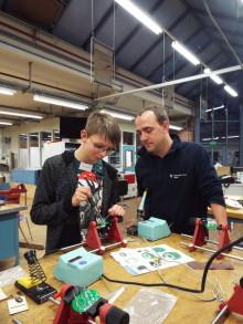 Matthias Detering aus Löhne Teilnehmer beim Energy Camp von Westfalen Weser Energie