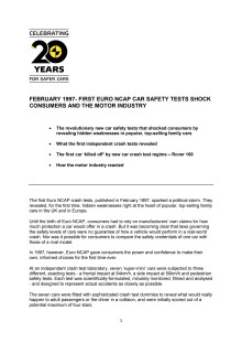 The Birth of Euro NCAP - the crash tests which shook the industry