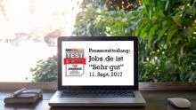 """FOCUS DEUTSCHLAND TEST """"Beste Jobbörsen"""":  Jobs.de ist """"Top Jobbörse"""" – """"Sehr gut"""" in allen Kategorien"""