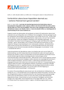 Pressemitteilung ALM e.V. - Weiteres Potenzial kann genutzt werden!