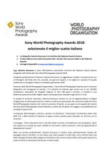 Sony World Photography Awards 2018: selezionato il miglior scatto italiano