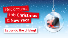 Christmas and New Year buses