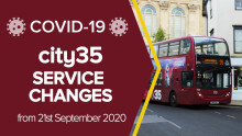 Service changes from 21st September 2020 - city35