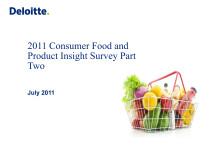 Consumer Food and Product Insight 2011
