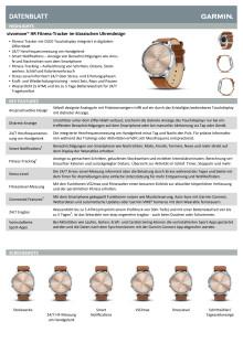 Datenblatt Garmin vívomove HR Premium Silber-Gold Lederarmband Hellbraun