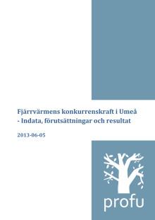 Ny undersökning visar: fjärrvärme från Umeå Energi har lägre klimatpåverkan än värmepumpar