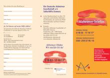 Flyer zum Alzheimer-Telefon