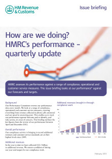 How are we doing? HMRC's performance – quarterly update
