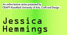 Hands, minds, craft. Hands minds craft. Presenting Jessica Hemmings, Wednesday 13 January.