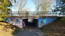 Gång- och cykeltunnel under Vasatorpsvägen målas om och får ny belysning