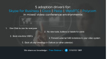 Learn 5 adoption drivers for video conferencing - webinar