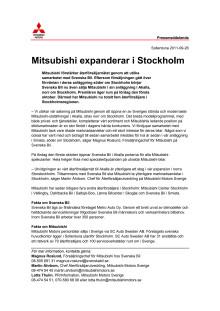 Mitsubishi expanderar i Stockholm