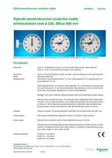 ESMI-kello - uusi alumiinikehys