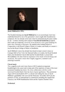 Jacob Mühlrad - Biography in English