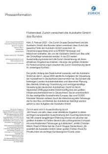 Flottendeal: Zurich versichert die Autobahn GmbH des Bundes