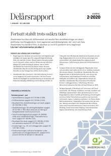 Delårsrapport 1 januari – 30 juni 2020