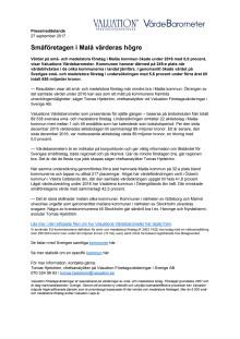 Värdebarometern 2017 Malås kommun
