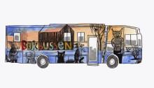 Konstnären Anneli Furmark gestaltar kommunens nya biblioteksbuss
