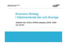 Antal företag som drivs av kvinnor resp män 2006-2010, Västmanland