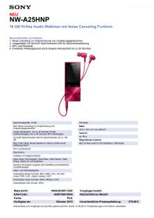Datenblatt NW-A25HN von Sony_pink