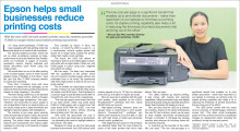 Epson helps small businesses reduce printing costs