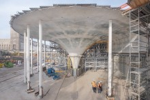 ZÜBLIN realising for Deutsche Bahn a reinforced concrete roof that is a work of art