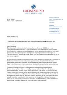 Pressemitteilung: Louisenlunder Grundschüler besuchen Lern- und Experimentierwerkstatt Musiculum in Kiel